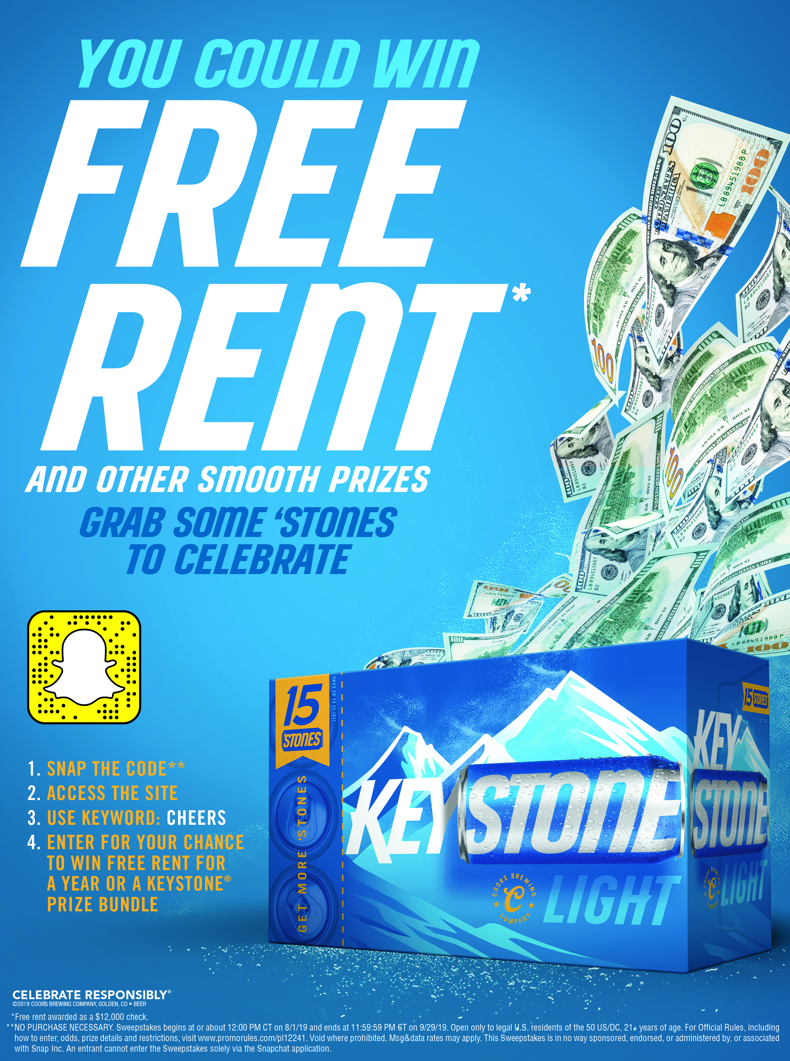 Keystone Light giving away a year's worth of free rent as