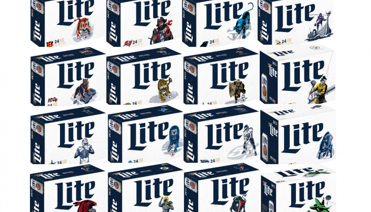 Miller Lite football packs