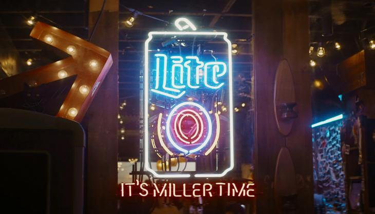 It's Miller Time neon