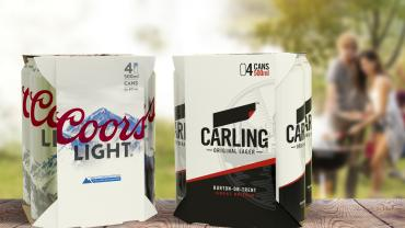 Coors Light and Carling new packaging in the U.K.