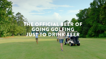 Official Beer of going golfing just to drink beer