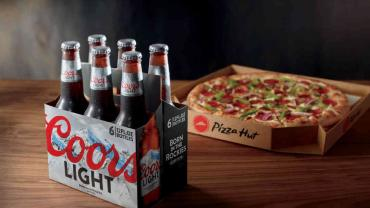 Pizza Hut Coors Light