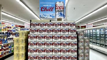 Coors Light display