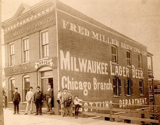 The Fred Miller Brewing Company (now part of MillerCoors) had this office in Chicago around 1895.
