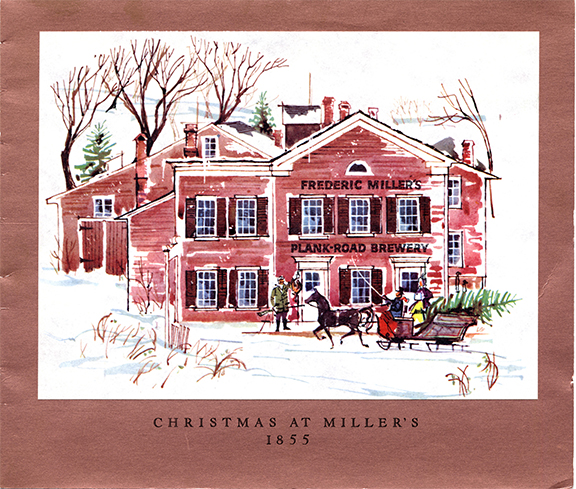RS 1955 Miller Christmas card- MillerCoors Milwaukee Archives