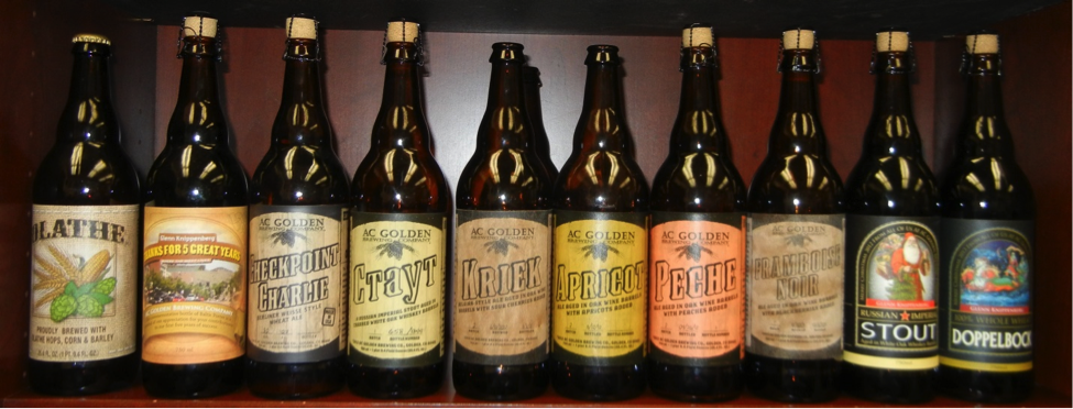 Award winning Hidden Barrel Collection beers by AC Golden Brewing Company