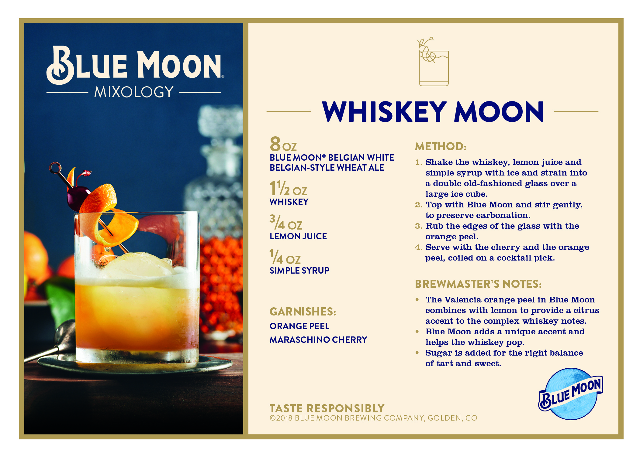 Blue Moon Dives Into Mixology Creates 4 New Cocktails